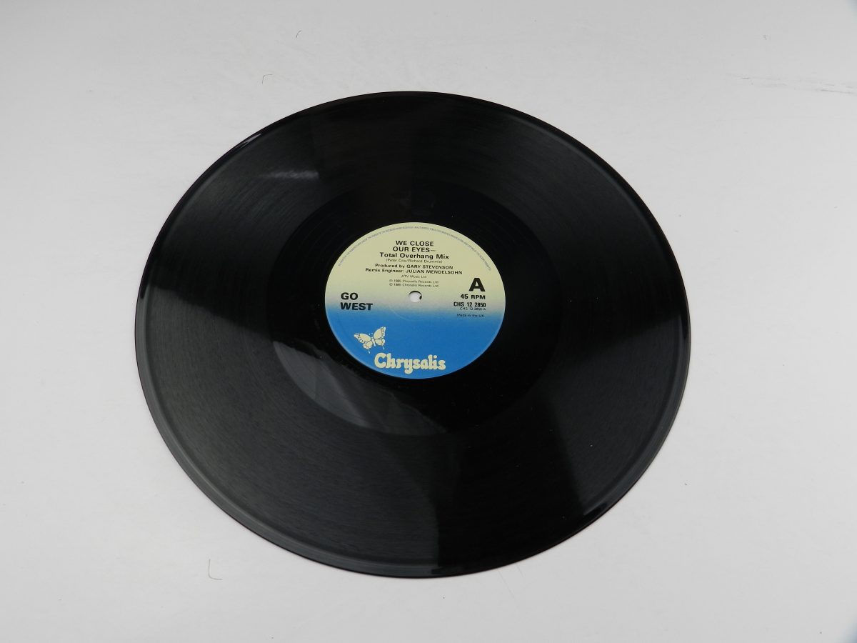 Go West – We Close Our Eyes Total Overhang Mix vinyl record side A scaled