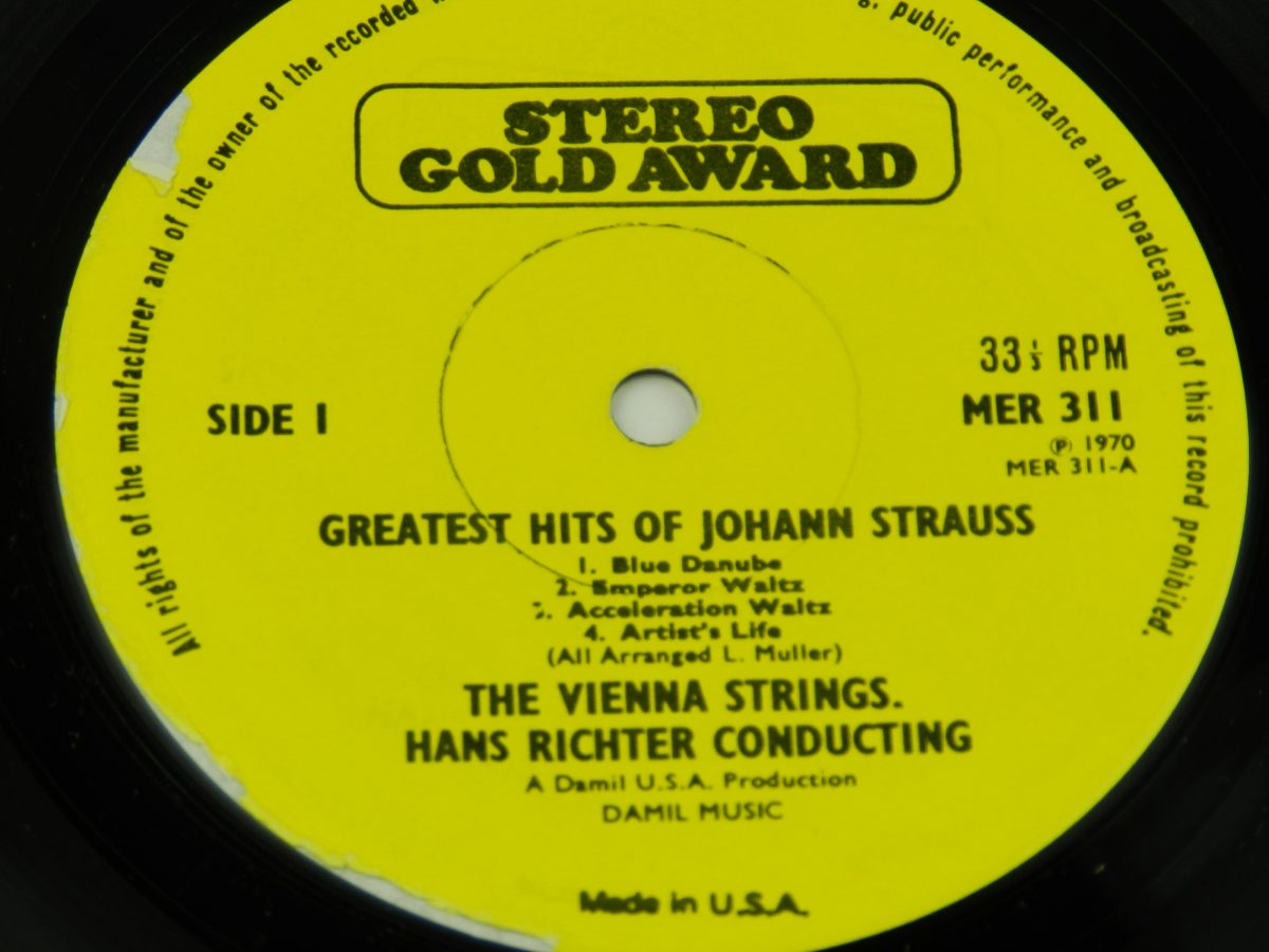 Hans Richter Conducting The Vienna Strings – Greatest Hits Of Johann Strauss vinyl record side A label scaled