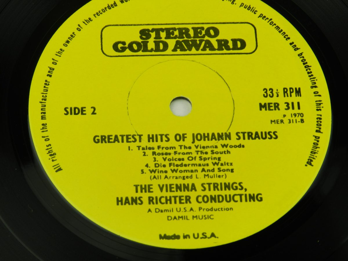 Hans Richter Conducting The Vienna Strings – Greatest Hits Of Johann Strauss vinyl record side B label scaled