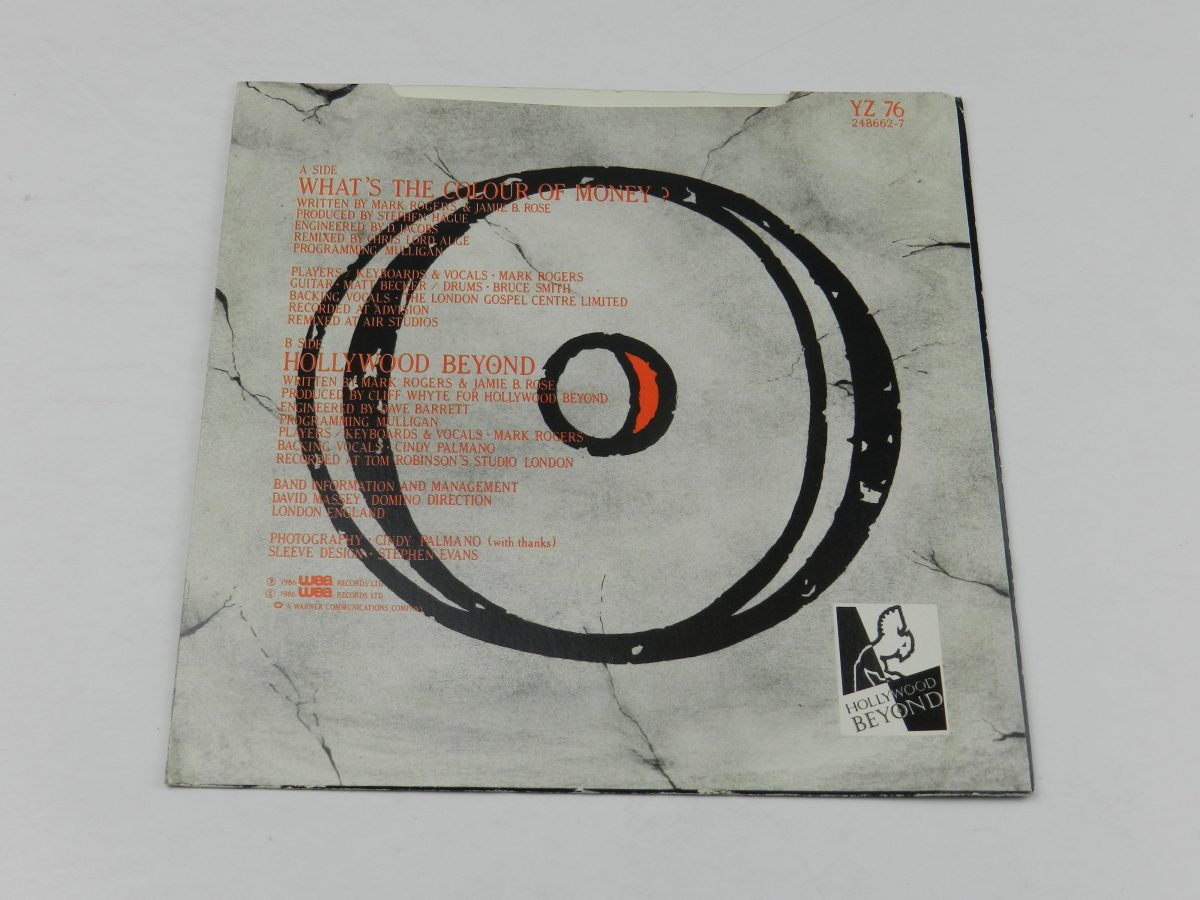Hollywood Beyond – Whats The Colour Of Money vinyl record sleeve rear scaled