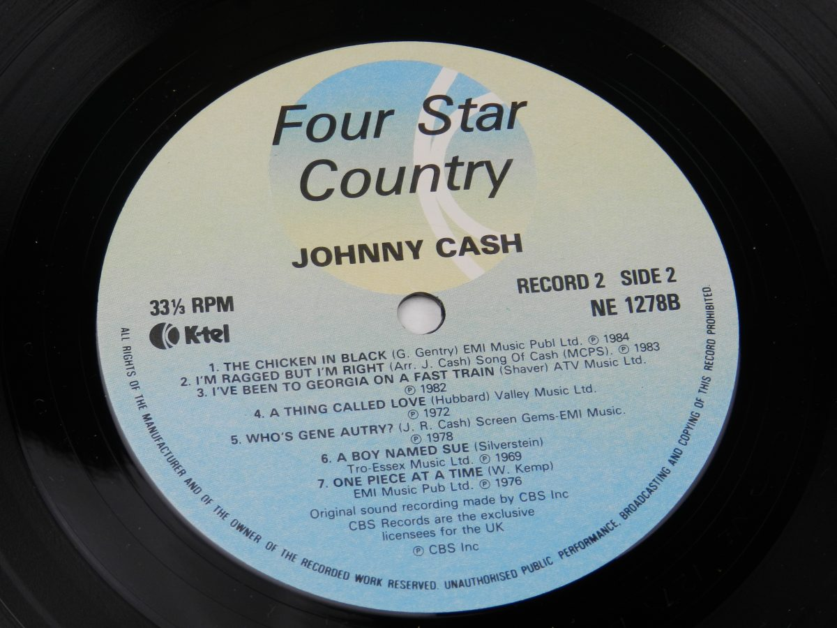Johnny Cash Willie Nelson Merle Haggard Kris Kristofferson – Four Star Country The Very Best Of Four Of Todays Biggest Stars vinyl record 2 side B label scaled