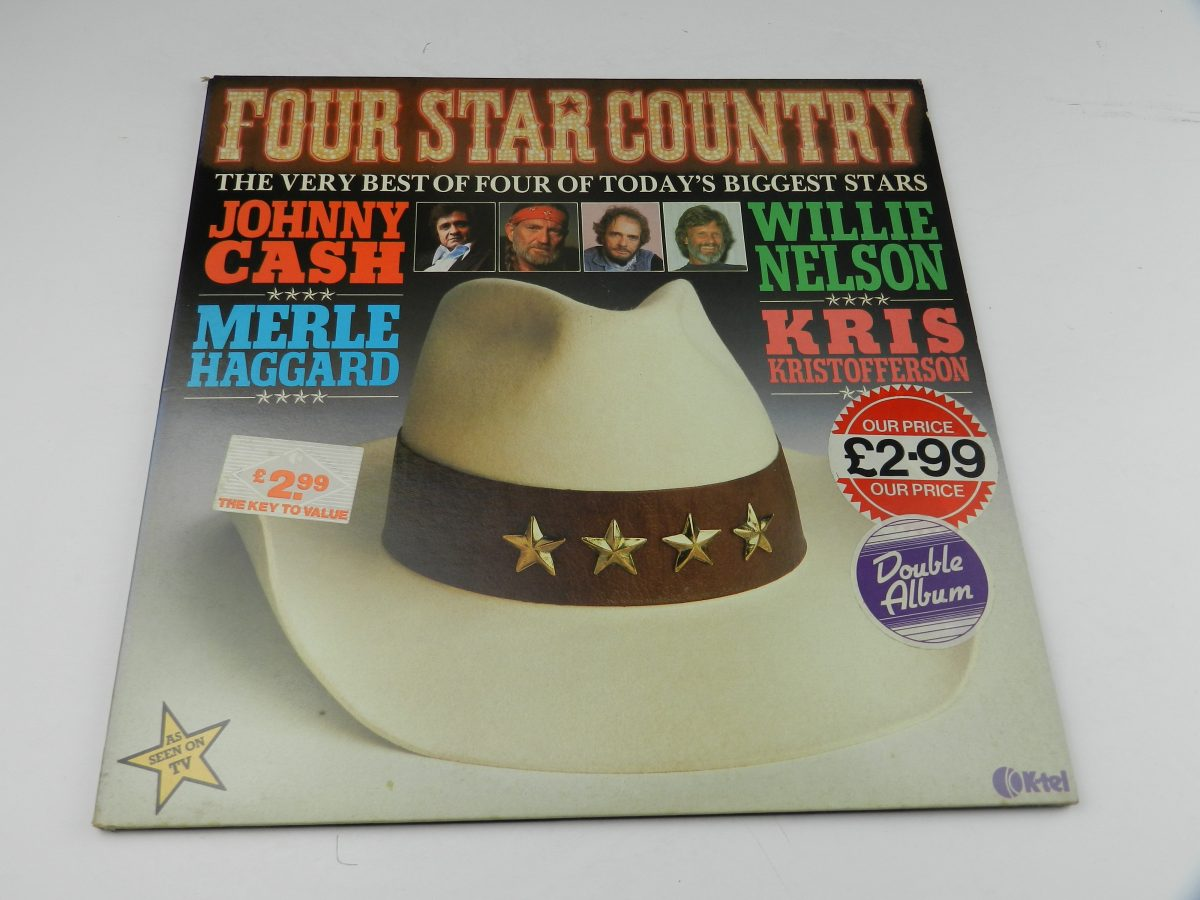 Johnny Cash Willie Nelson Merle Haggard Kris Kristofferson – Four Star Country The Very Best Of Four Of Todays Biggest Stars vinyl record sleeve scaled