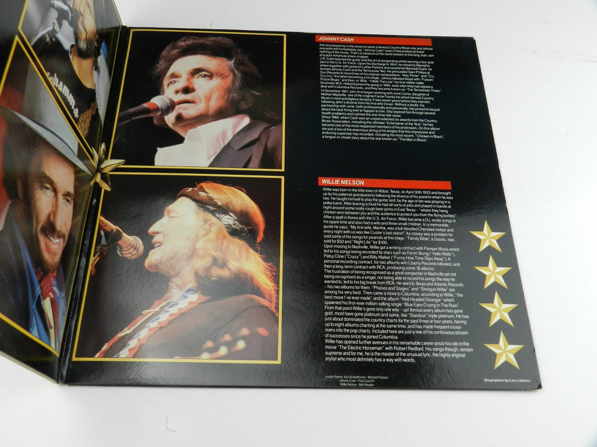 Johnny Cash Willie Nelson Merle Haggard Kris Kristofferson – Four Star Country The Very Best Of Four Of Todays Biggest Stars vinyl record sleeve gatefold 2 scaled