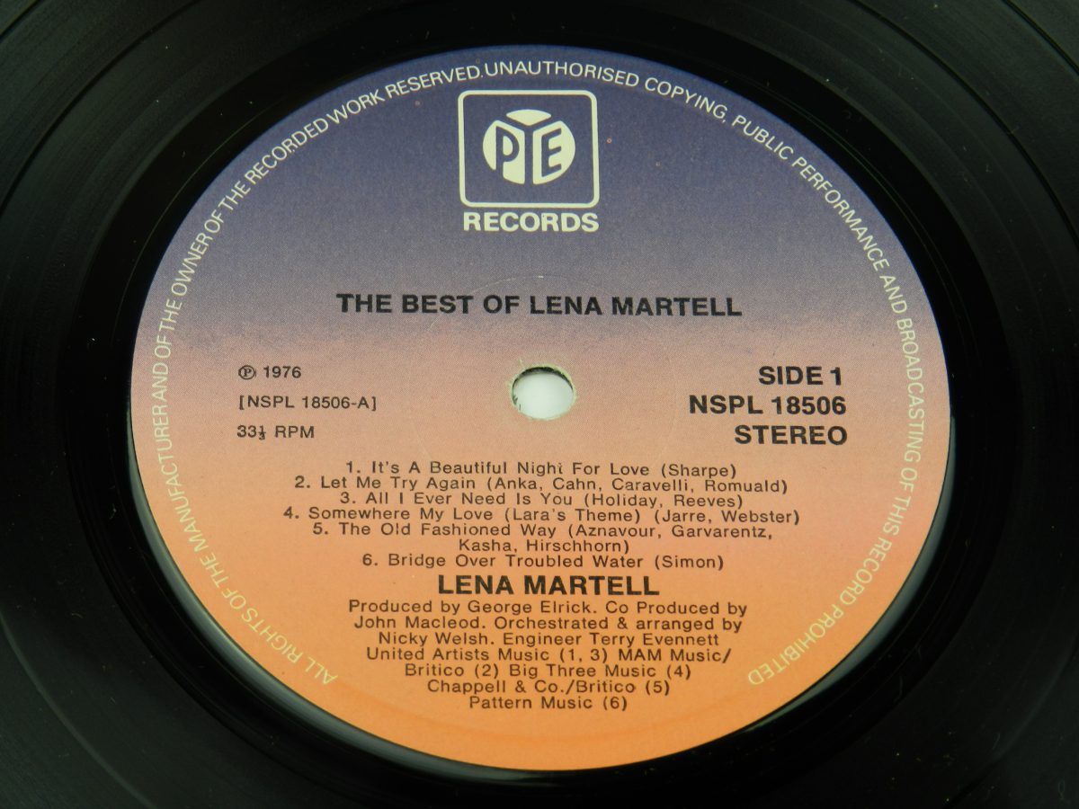 Lena Martell – The Best Of Lena Martell vinyl record side A label scaled