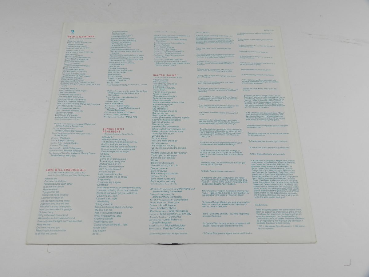 Lionel Richie – Dancing On The Ceiling vinyl record sleeve inner 1 scaled