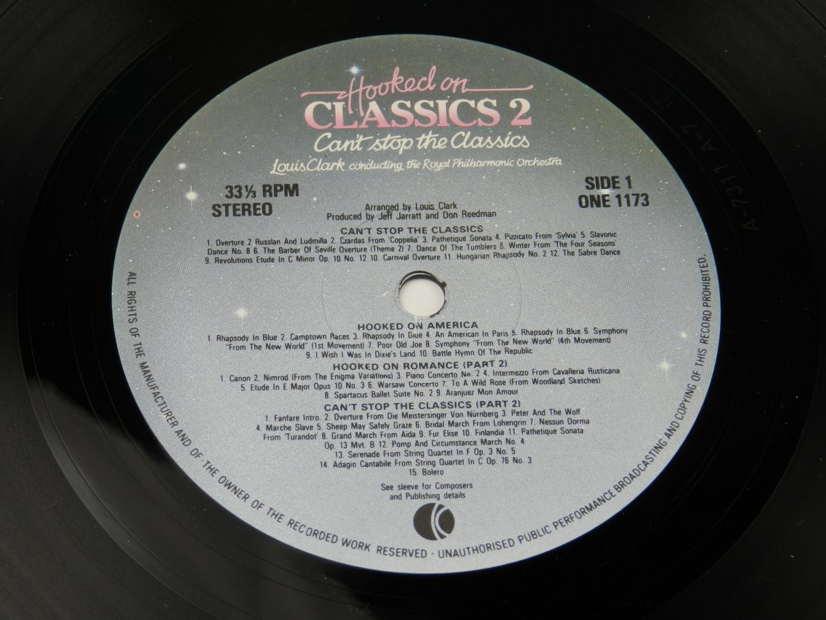 Louis Clark Conducting The Royal Philharmonic Orchestra – Hooked On Classics 2 Cant Stop The Classics vinyl record side A label scaled