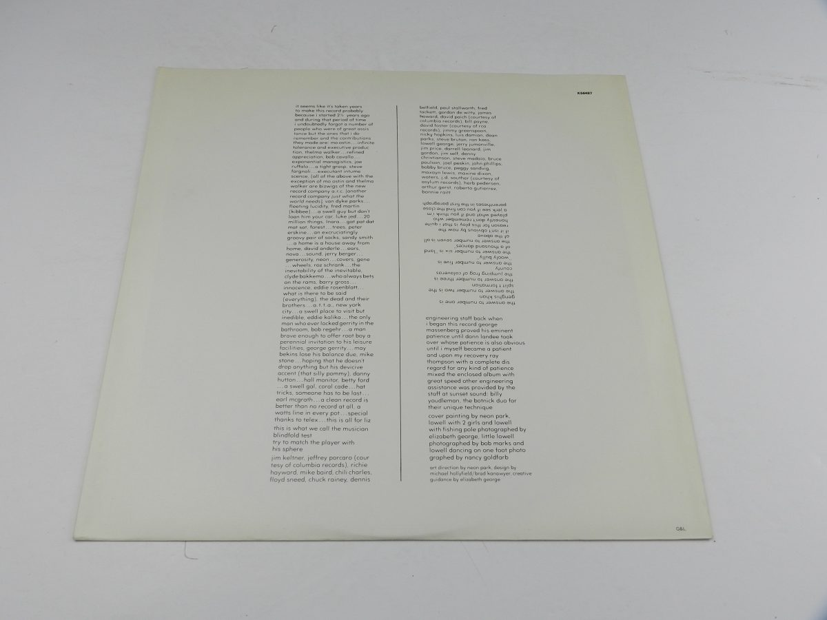 Lowell George – Thanks Ill Eat It Here vinyl record sleeve inner 2 scaled