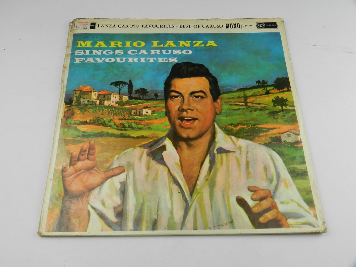 Mario Lanza Enrico Caruso – Mario Lanza Sings Caruso Favourites From The Best Of Caruso vinyl record sleeve scaled
