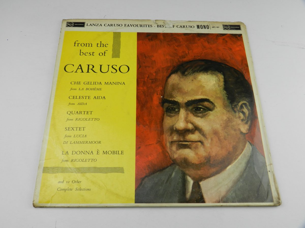 Mario Lanza Enrico Caruso – Mario Lanza Sings Caruso Favourites From The Best Of Caruso vinyl record sleeve rear scaled
