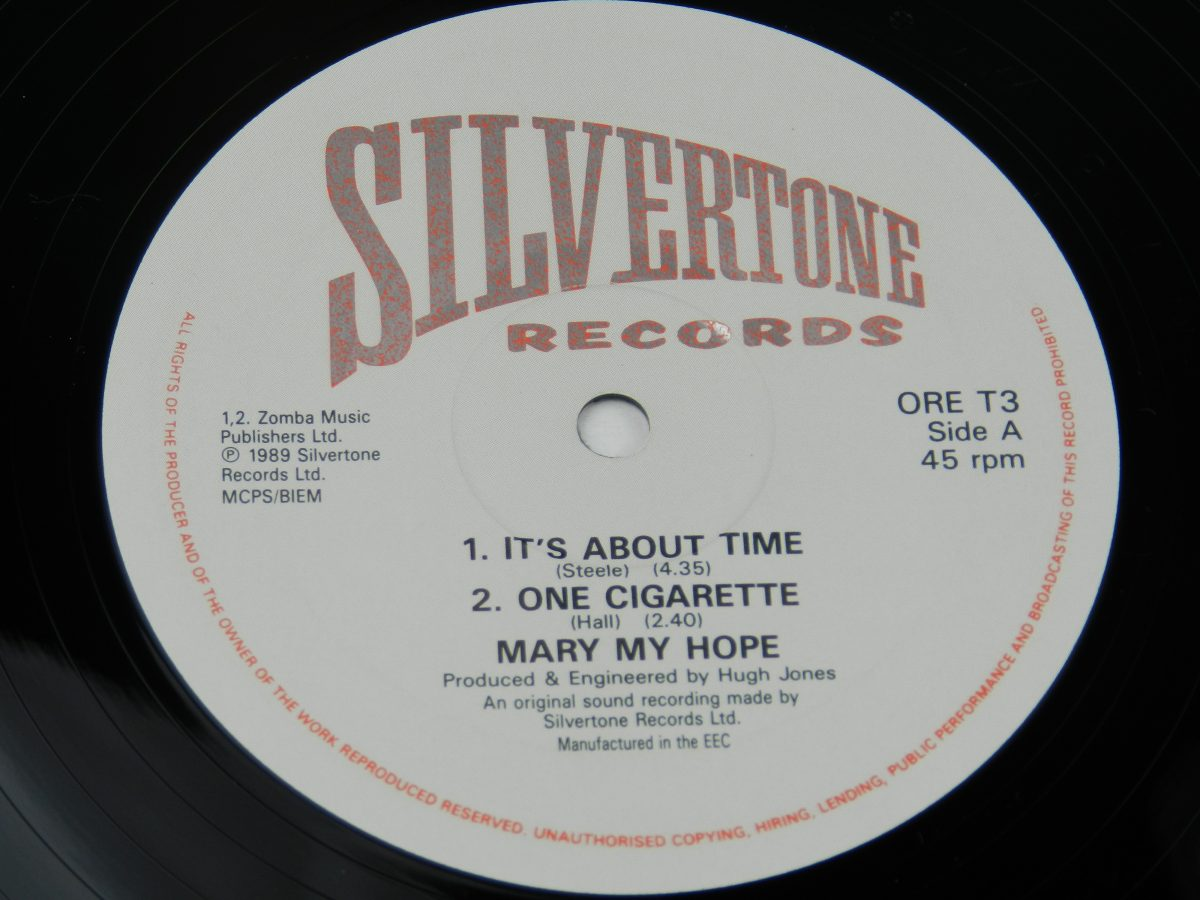 Mary My Hope – Its About Time vinyl record side A label scaled