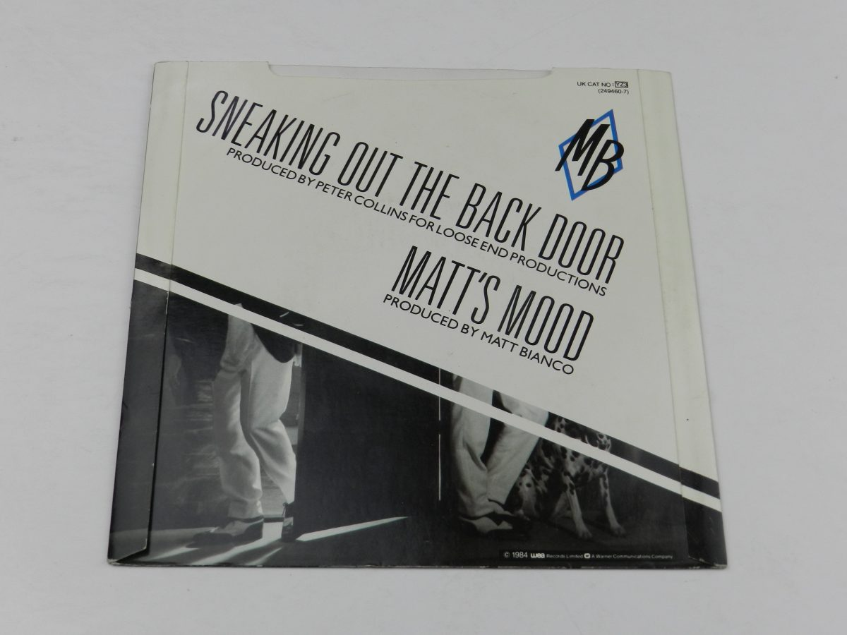 Matt Bianco – Sneaking Out The Back Door vinyl record sleeve rear scaled