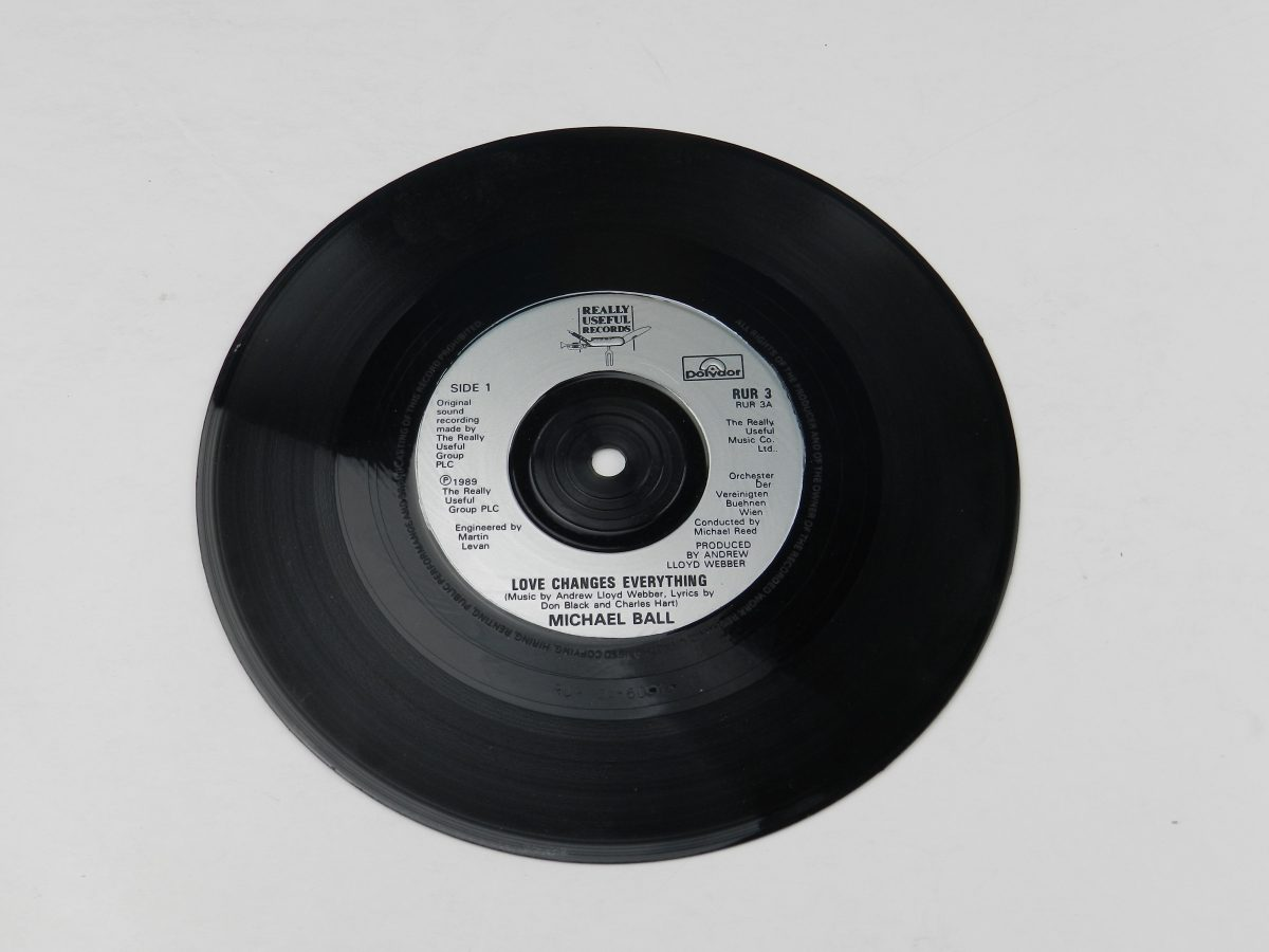 Michael Ball – Love Changes Everything vinyl record side A scaled