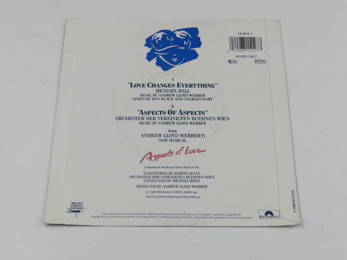 Michael Ball – Love Changes Everything vinyl record sleeve rear scaled