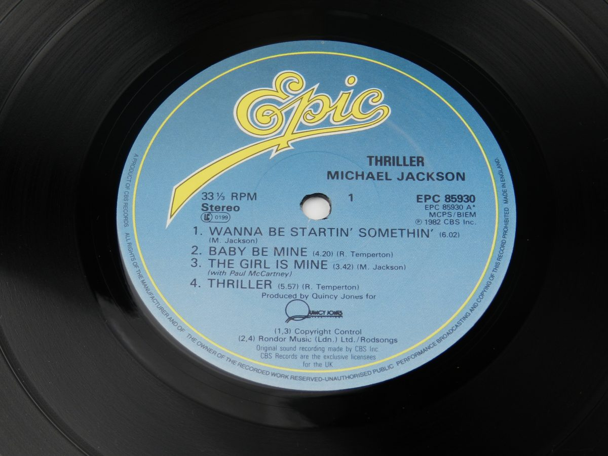 Michael Jackson – Thriller vinyl record side A label 1 scaled
