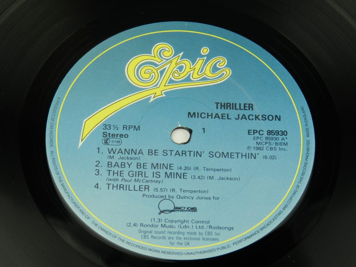 Michael Jackson – Thriller vinyl record side A label scaled