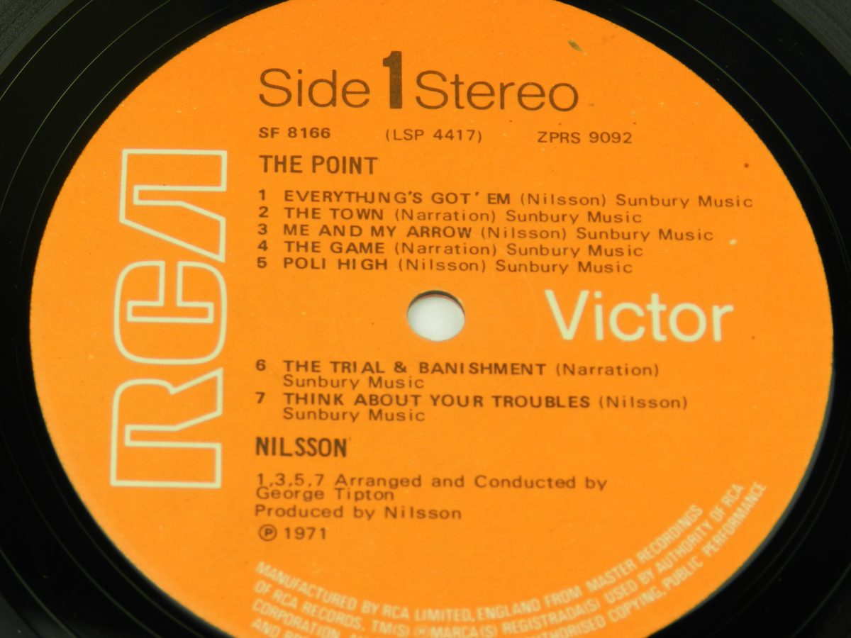 Nilsson – The Point vinyl record side A label scaled