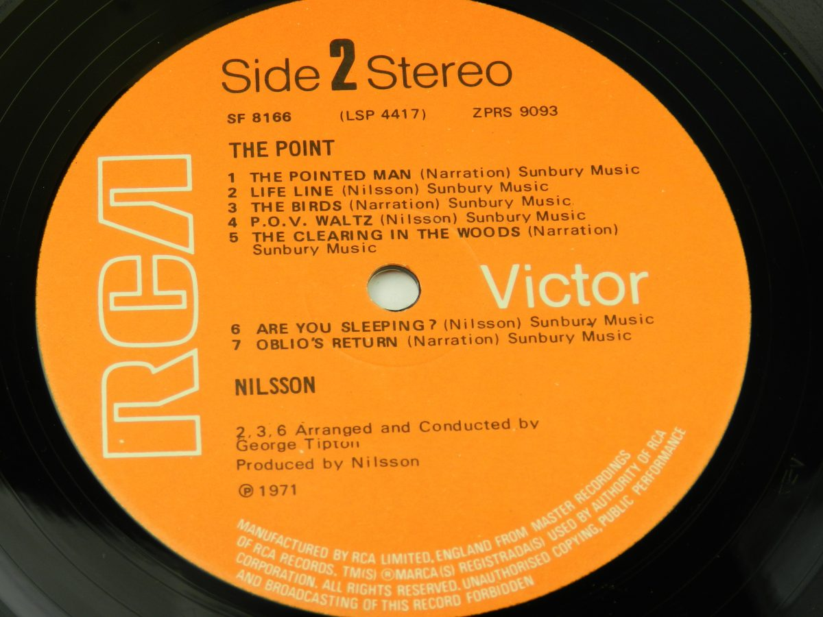 Nilsson – The Point vinyl record side B label scaled