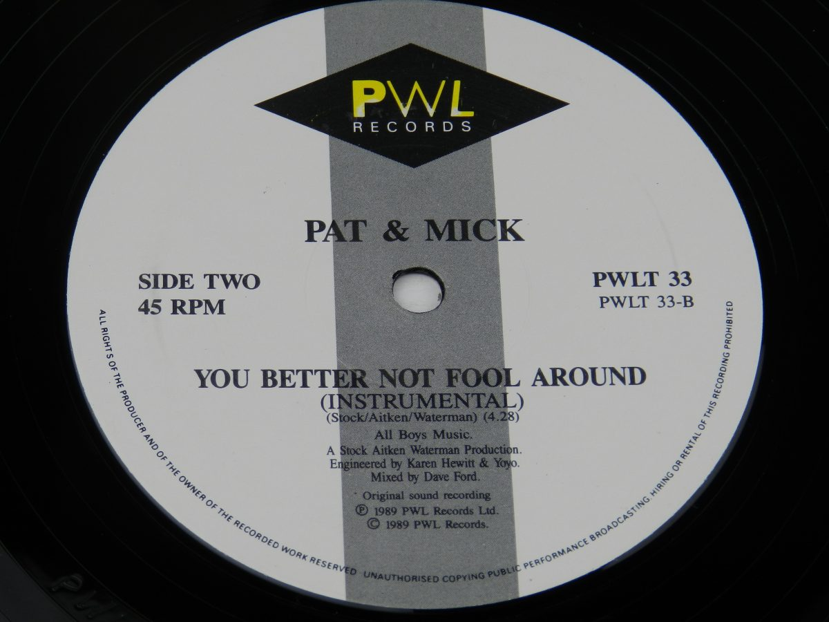 Pat Mick – I Havent Stopped Dancing Yet vinyl record side B label scaled