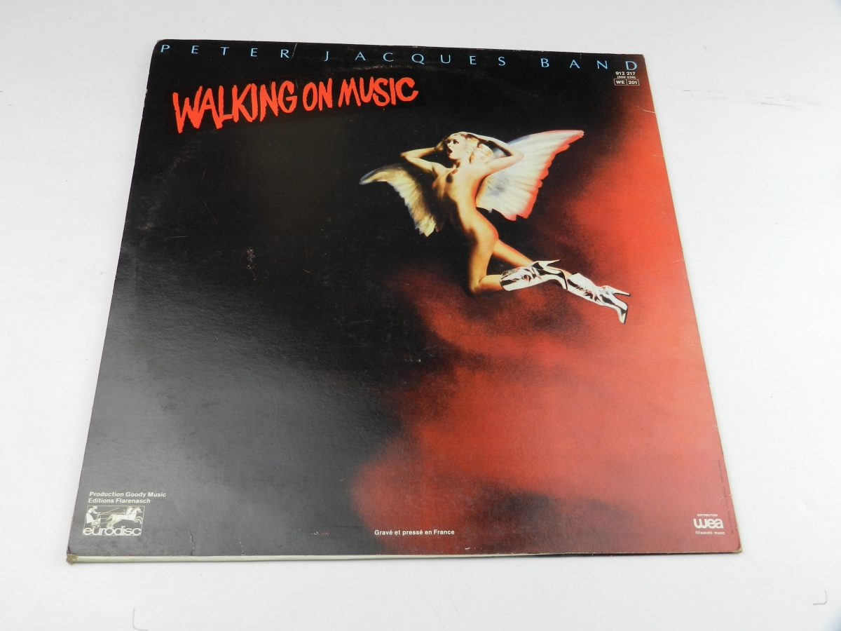 Peter Jacques Band – Walking On Music vinyl record sleeve rear scaled