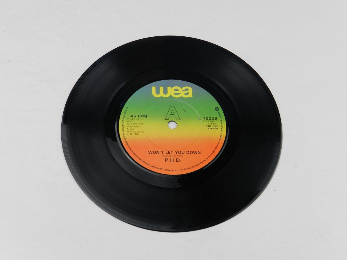 Ph.D. – I Wont Let You Down vinyl record side A scaled