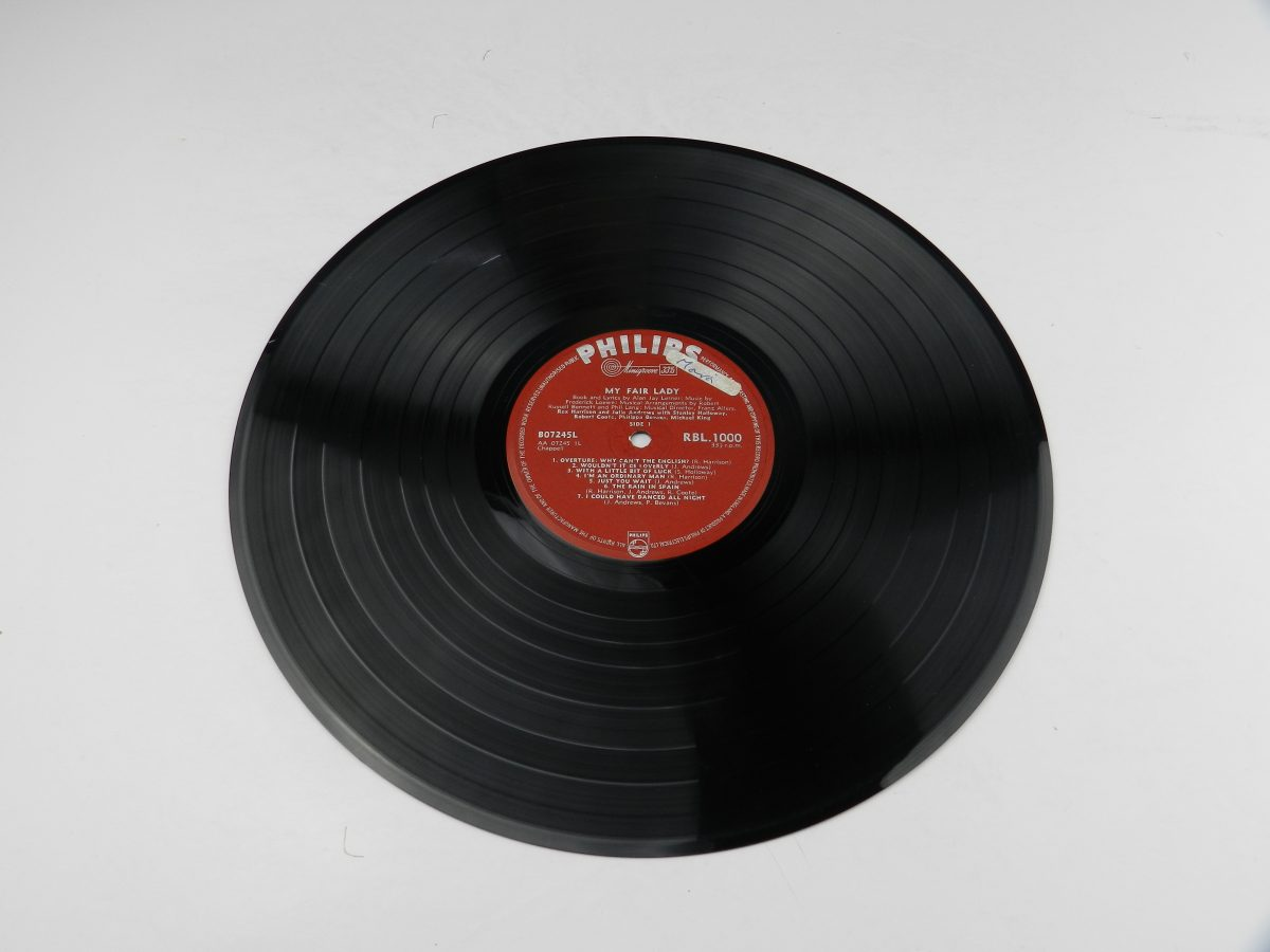 Rex Harrison Julie Andrews – My Fair Lady vinyl record side A scaled