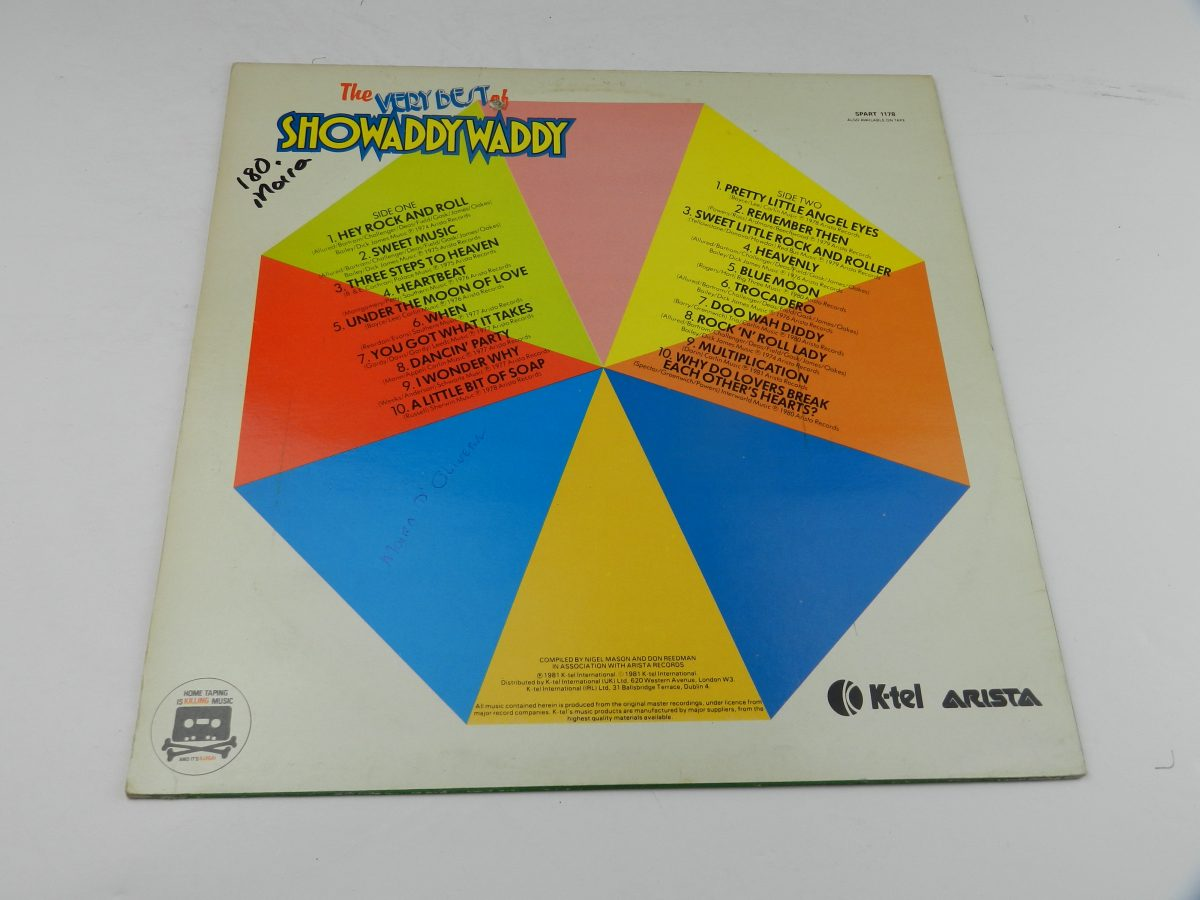 Showaddywaddy – The Very Best Of Showaddywaddy vinyl record slevee rear scaled