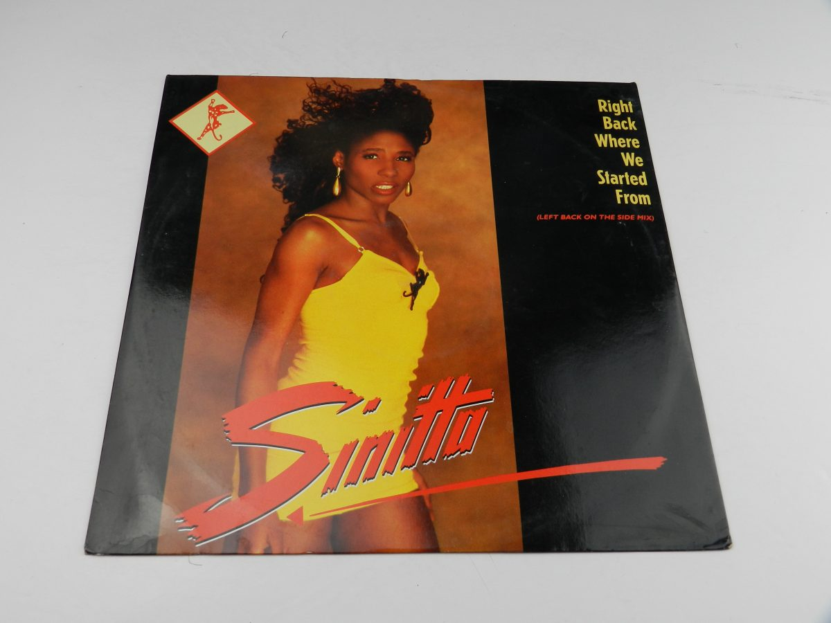 Sinitta – Right Back Where We Started From Left Back On The Side Mix vinyl record sleeve scaled