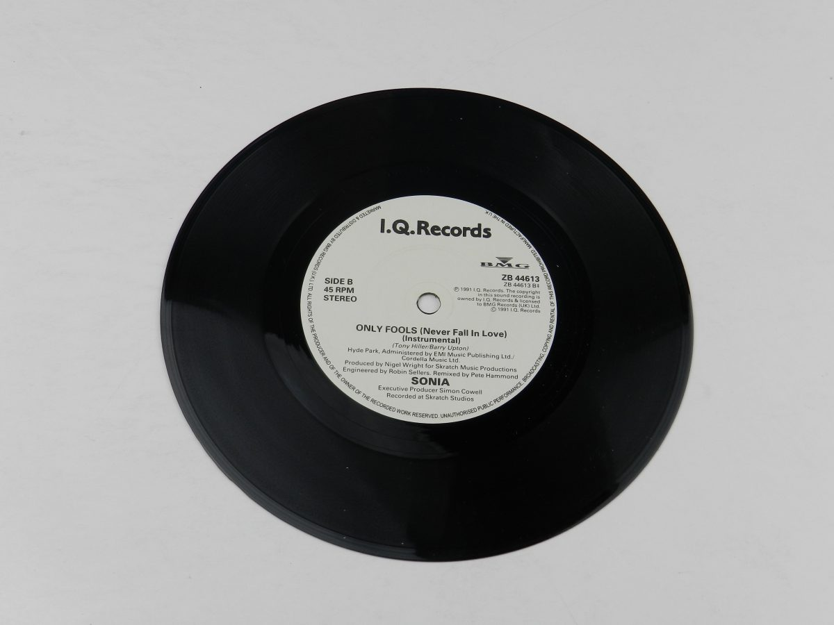 Sonia – Only Fools Never Fall In Love vinyl record side B scaled