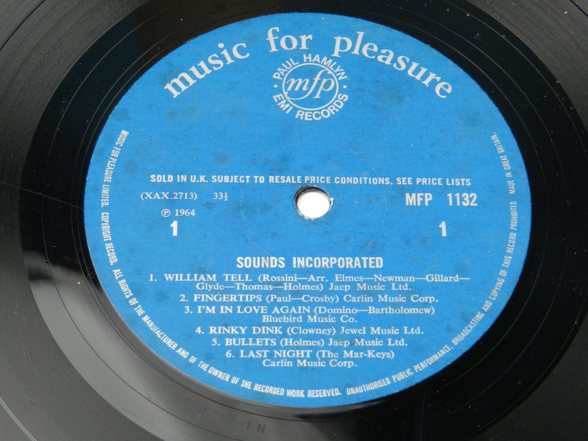 Sounds Incorporated – Sounds Incorporated vinyl record side A label scaled