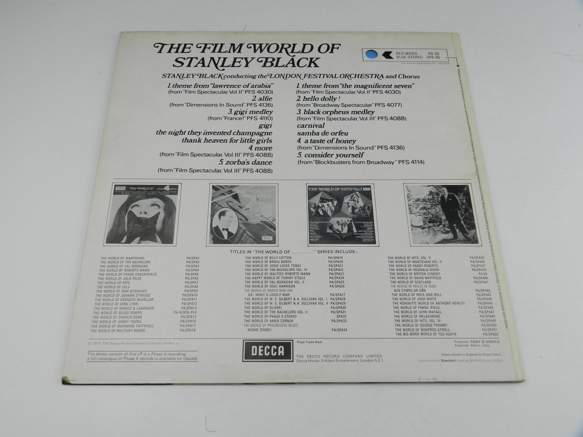 Stanley Black Conducting The London Festival Orchestra And Chorus – The Film World Of Stanley Black vinyl record sleeve rear scaled