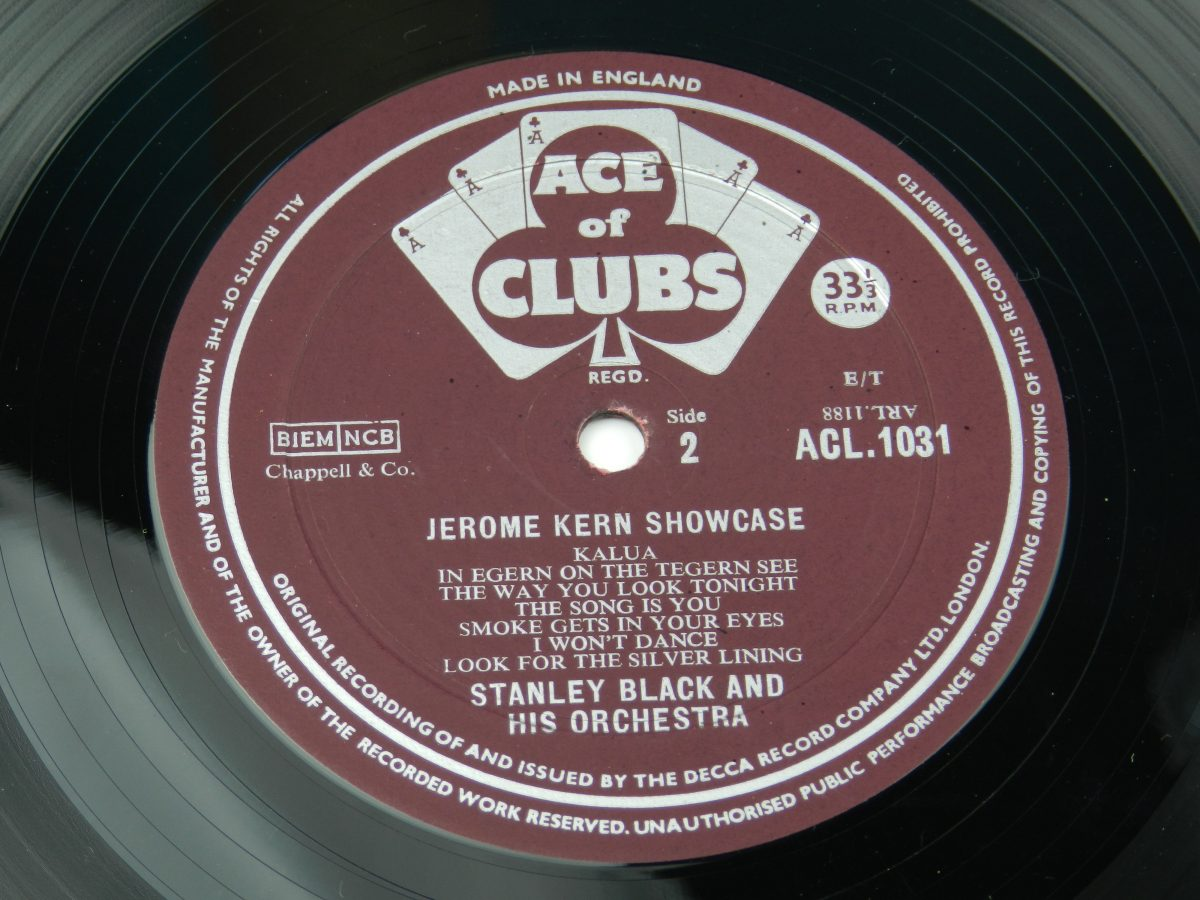 Stanley Black Stanley Black His Orchestra – Jerome Kern Showcase vinyl record side B label scaled