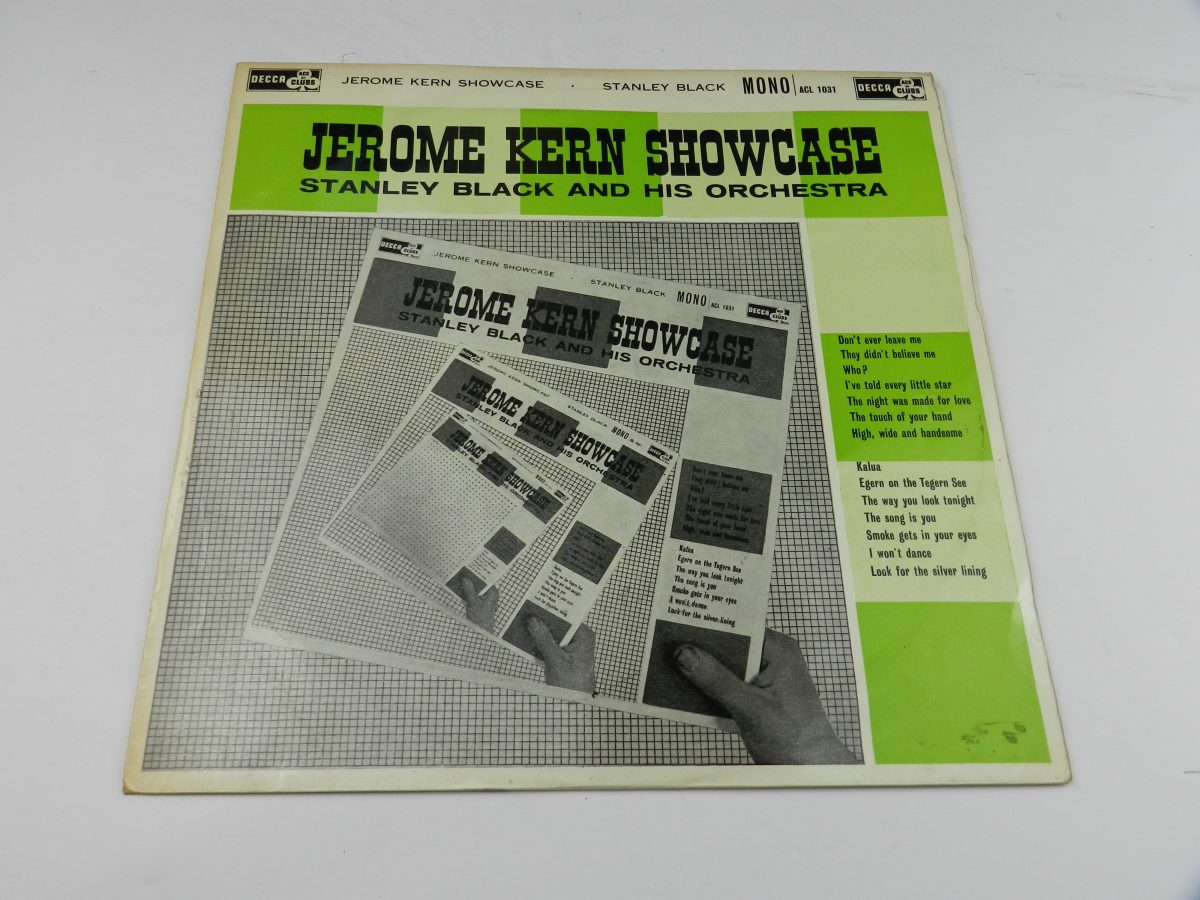 Stanley Black Stanley Black His Orchestra – Jerome Kern Showcase vinyl record sleeve scaled