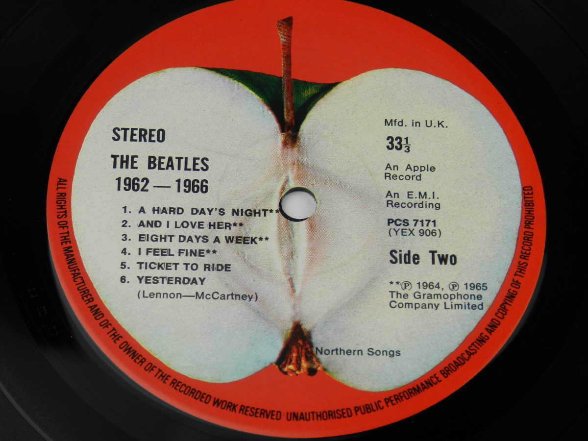 The Beatles – 1962 1966 vinyl record 1 side B label scaled