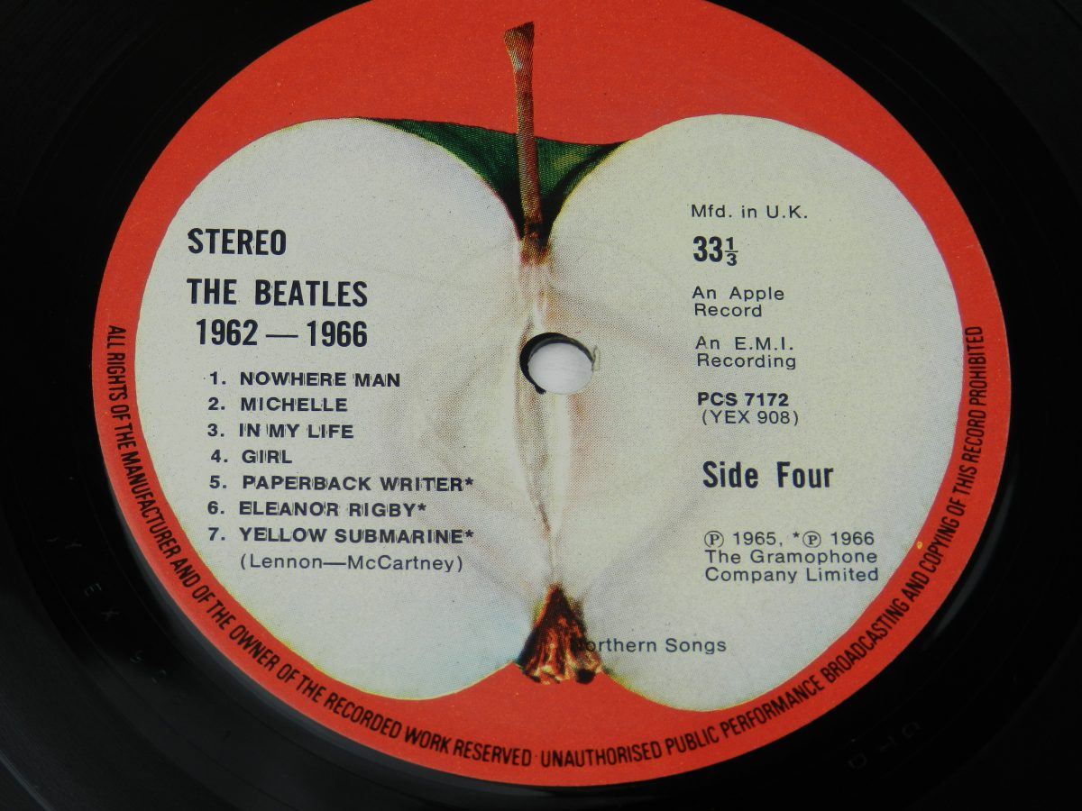 The Beatles – 1962 1966 vinyl record 2 side B label scaled