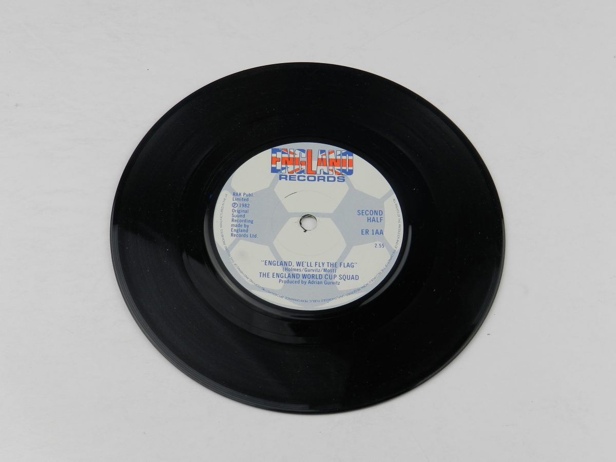 The England World Cup Squad – This Time Well Get It Right England Well Fly The Flag vinyl record side A scaled