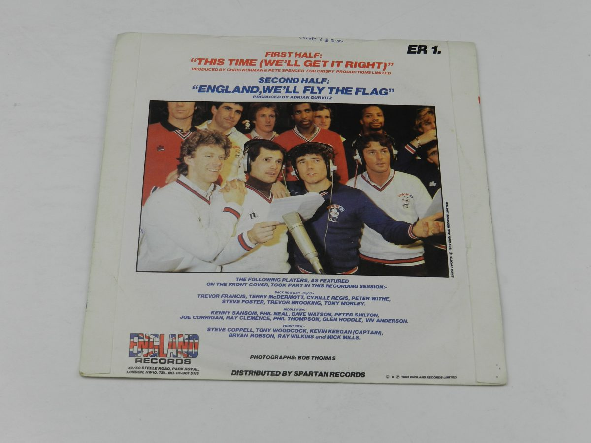 The England World Cup Squad – This Time Well Get It Right England Well Fly The Flag vinyl record sleeve rear scaled