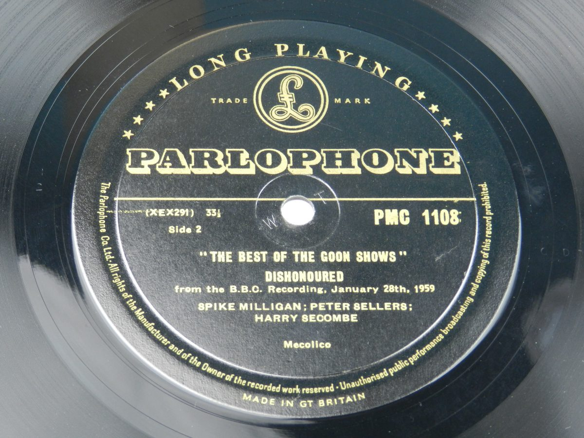 The Goons – The Best Of The Goon Shows vinyl record side B label scaled
