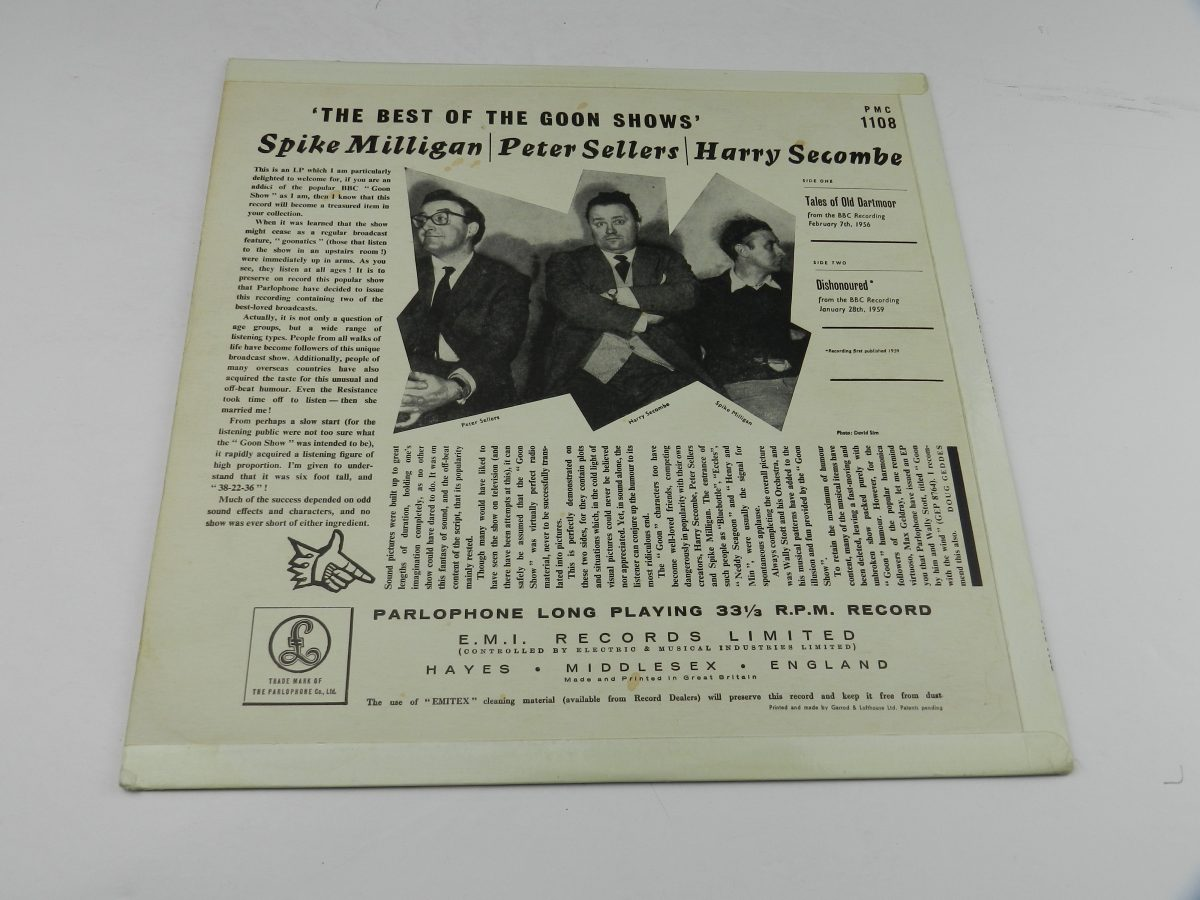 The Goons – The Best Of The Goon Shows vinyl record sleeve rear scaled