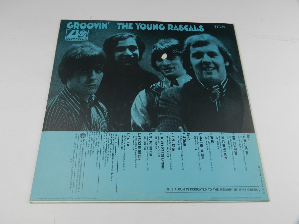 The Young Rascals – Groovin vinyl record sleeve rear scaled