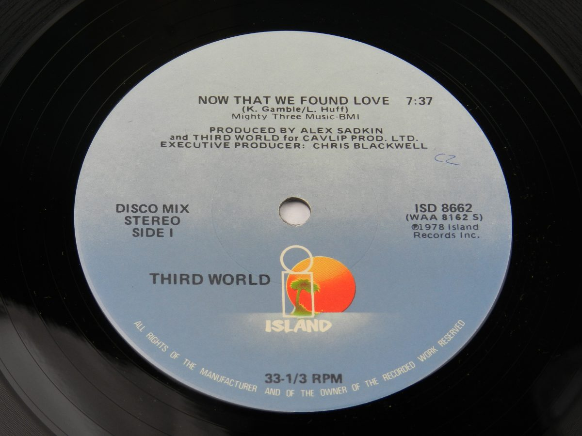 Third World Now That We Found Love vinyl record side A label scaled
