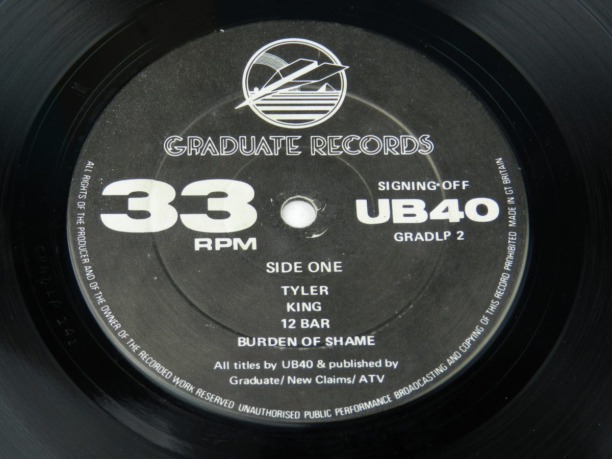 UB40 – Signing Off vinyl record side A label scaled