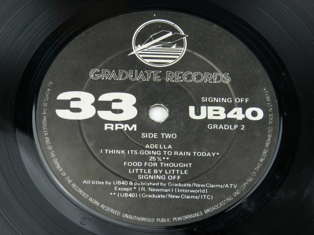 UB40 – Signing Off vinyl record side B label scaled