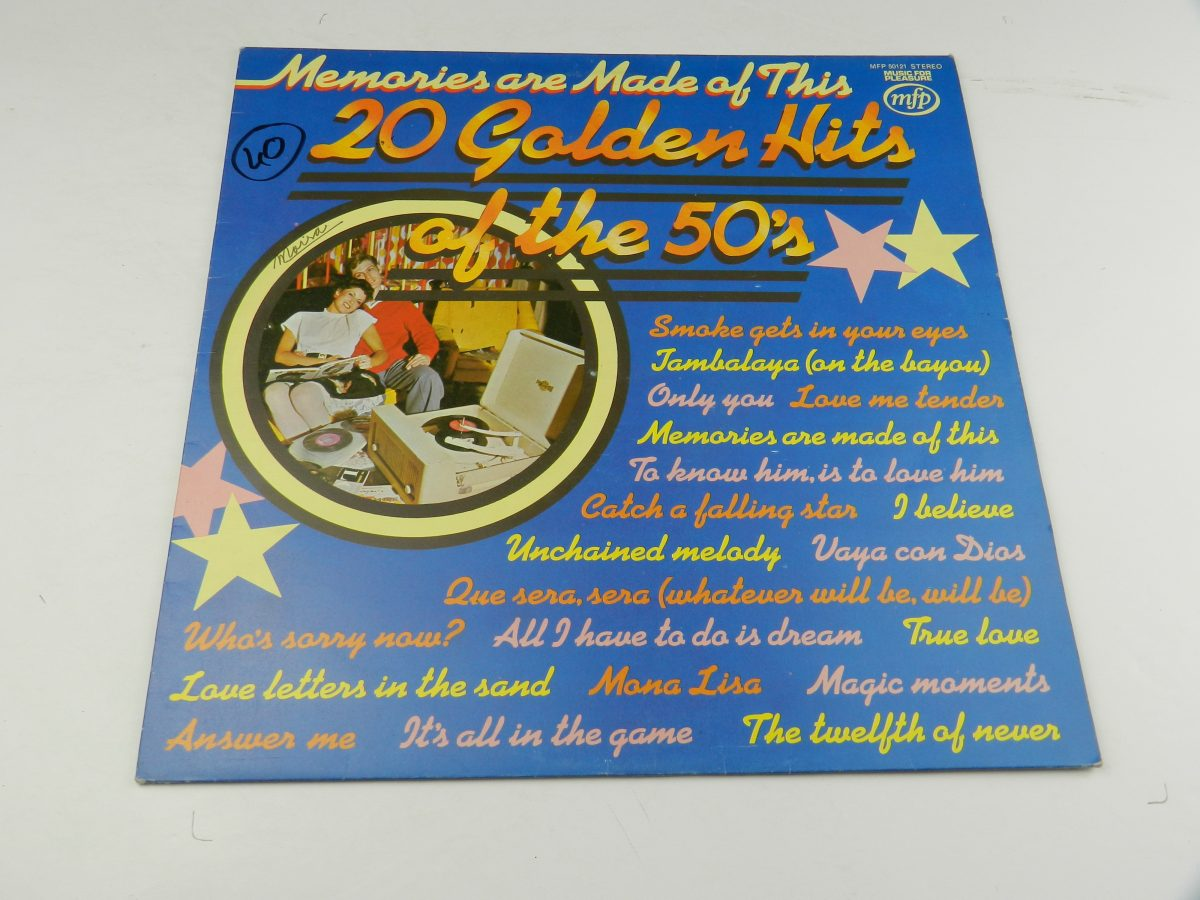 Unknown Artist – Memories Are Made Of This 20 Golden Hits Of The 50s vinyl record sleeve scaled
