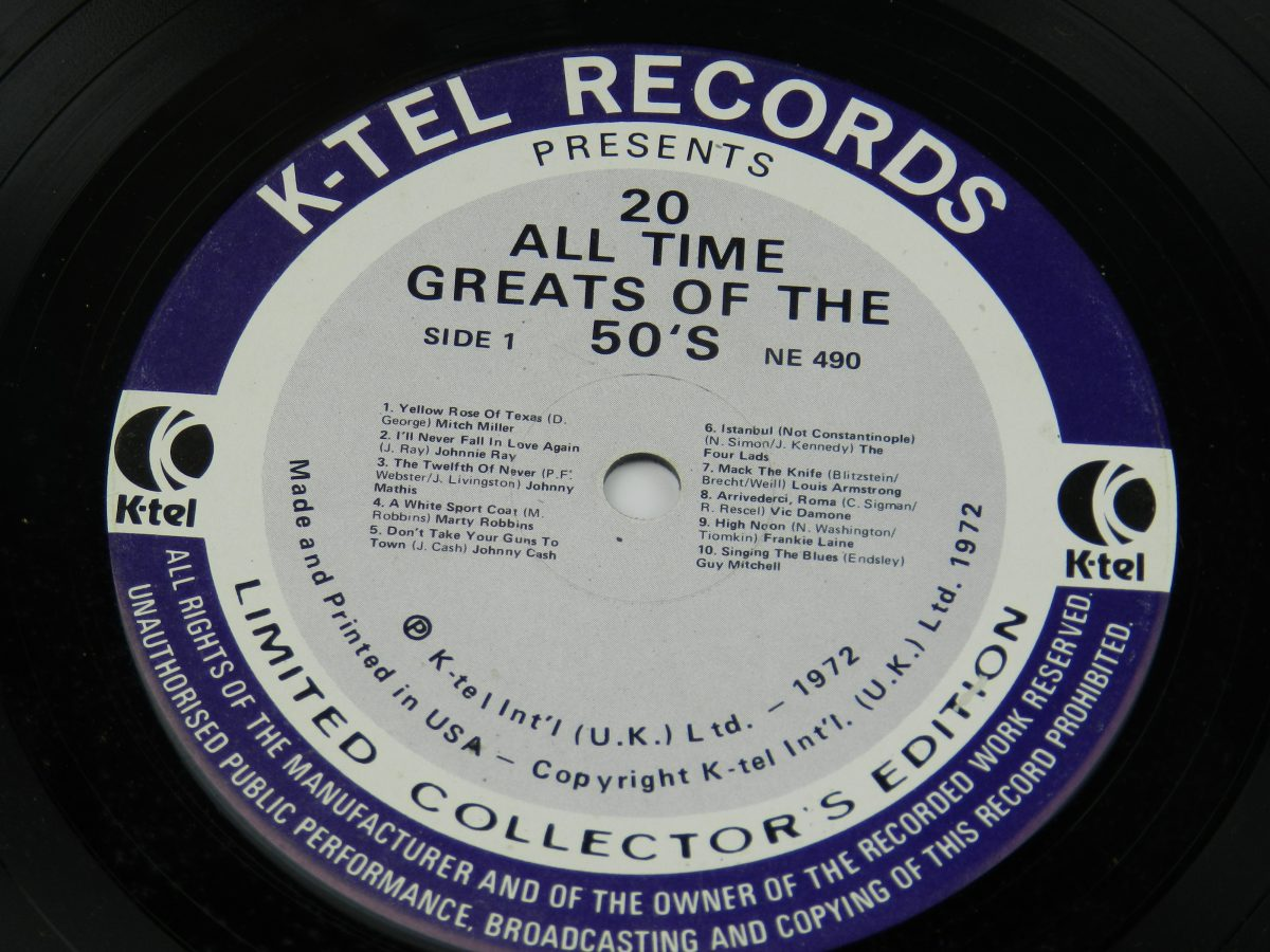 Various – 20 All Time Greats Of The 50s vinyl record side A label scaled