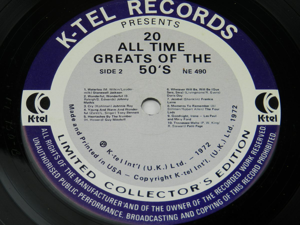 Various – 20 All Time Greats Of The 50s vinyl record side B label scaled