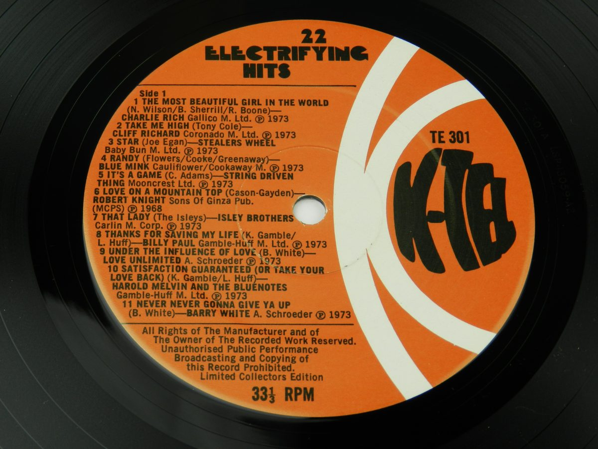 Various – 22 Electrifying Hits vinyl record side B label scaled