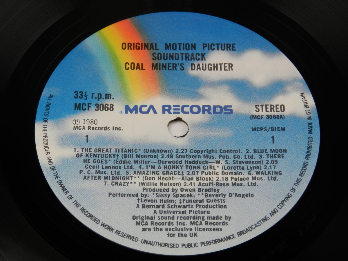 Various – Coal Miners Daughter Original Motion Picture Soundtrack vinyl record side A label scaled