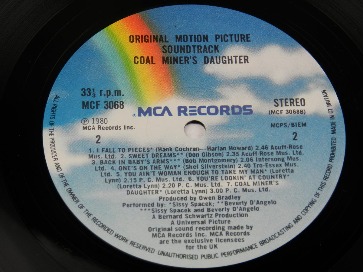 Various – Coal Miners Daughter Original Motion Picture Soundtrack vinyl record side B label scaled