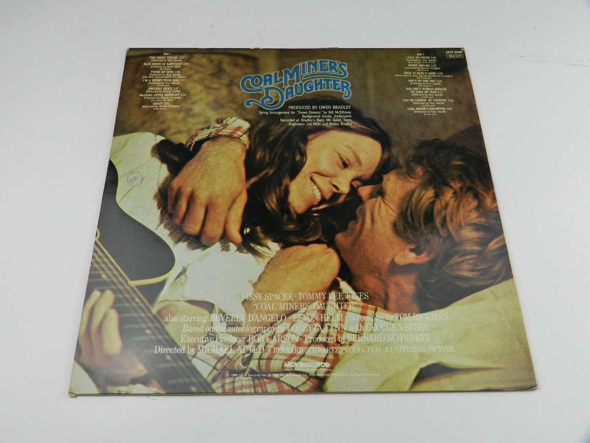 Various – Coal Miners Daughter Original Motion Picture Soundtrack vinyl record sleeve rear scaled