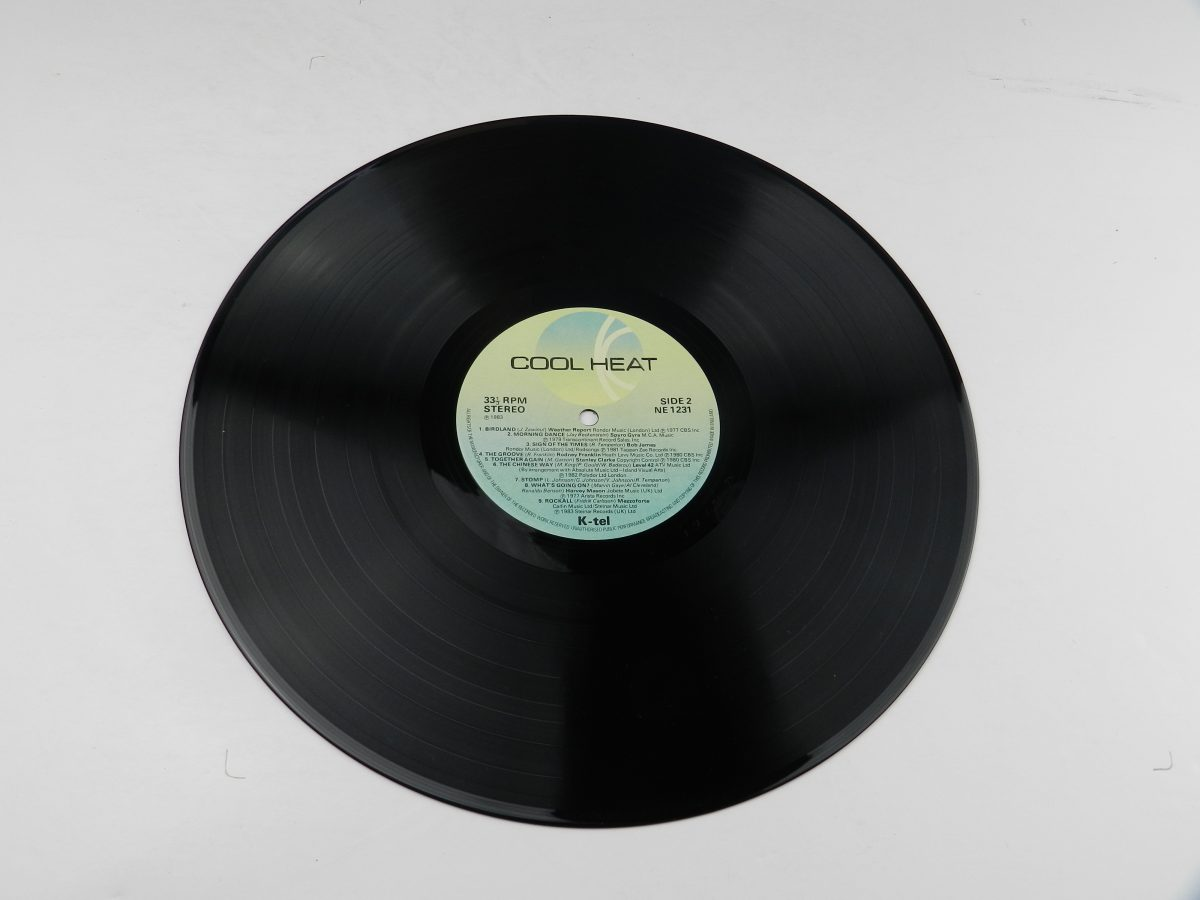 Various – Cool Heat The Hottest • Jazziest • Coolest • Funkiest Hits vinyl record side B scaled